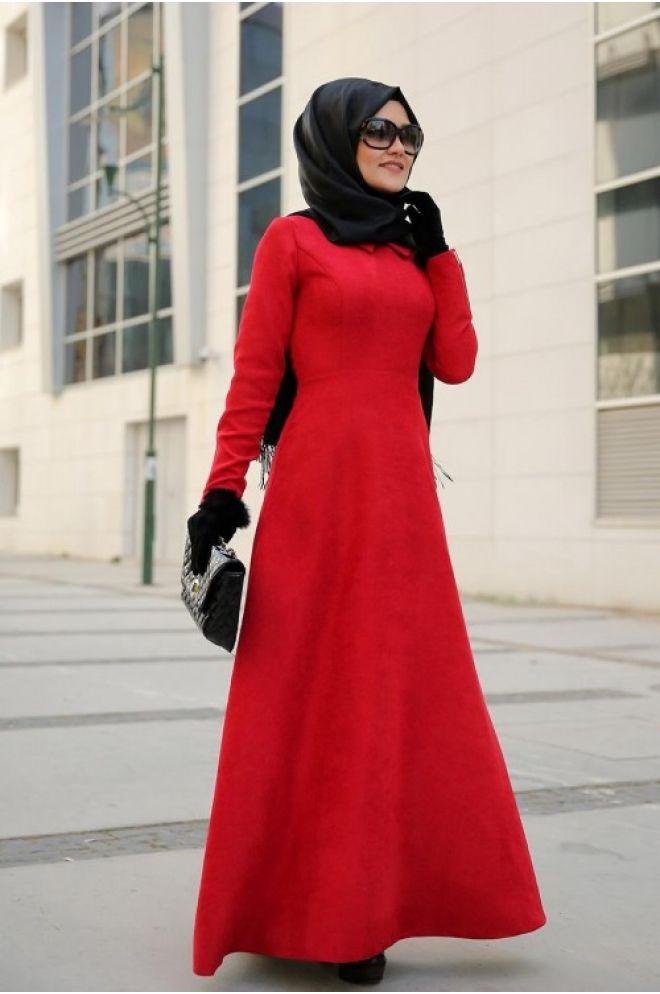 Lefzen Hira Kırmızı Abiye Elbise