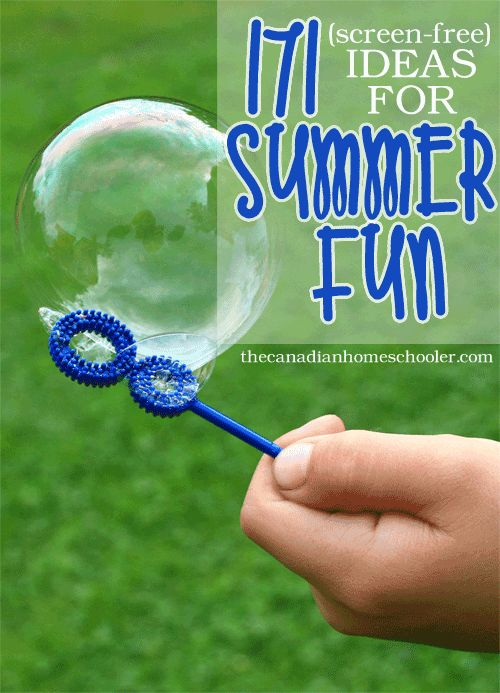 Summer is coming and this is the time of year that our family starts putting together our summer wishlist/bucket list. Here are 171 ideas that we've come up with that might help your family jump-start your own summer bucket list!