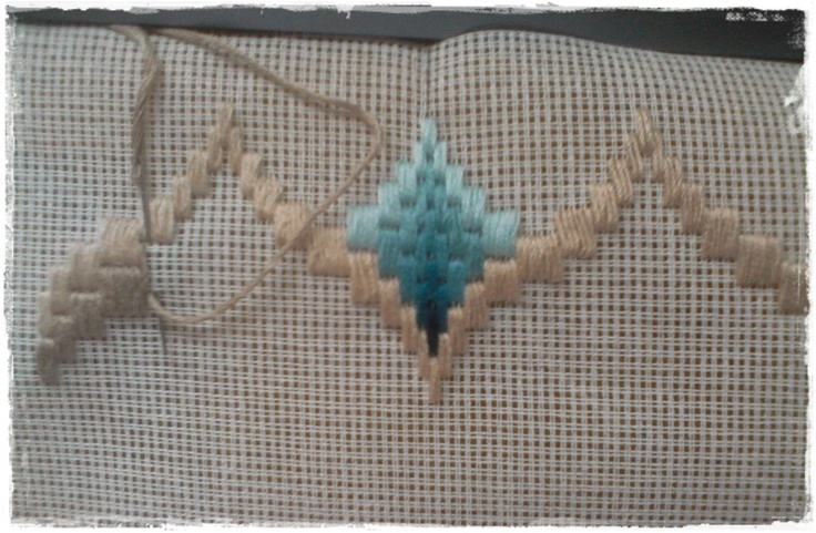 Bargello embroidery