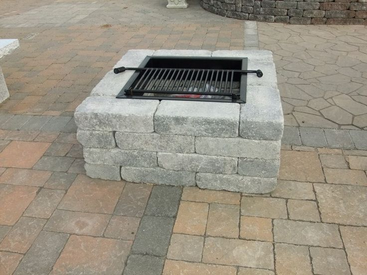 """Pavestone Square FIrepit-- Available  2 colors 40"""" Square-16"""" Height"""