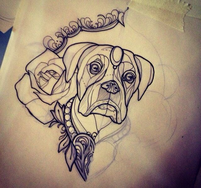 af04d353b Demon Girl Neo Traditional Tattoo Flash #neotraditional Neo Traditional  Tattoo Flash: Neo Traditional Tattoo Flash Boxer Dog