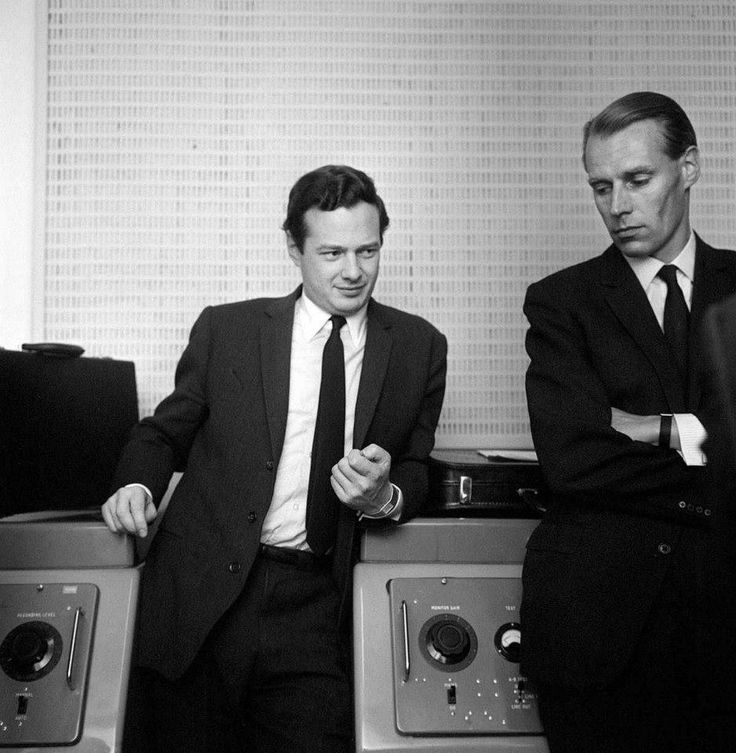Brian Epstein and George Martin. Manager and Record Producer - two geniuses…