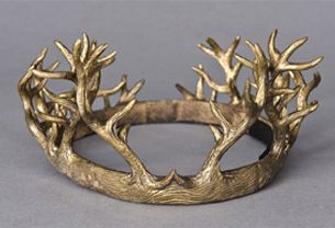 I want this to be Alonso's crown. It is made of wood and gold and shows the high status and power of Alonso as the King of Naples.
