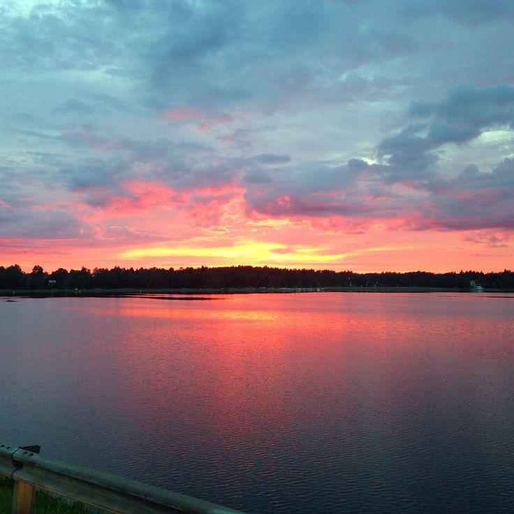 Sunset in Österby in Ekenäs, Finland