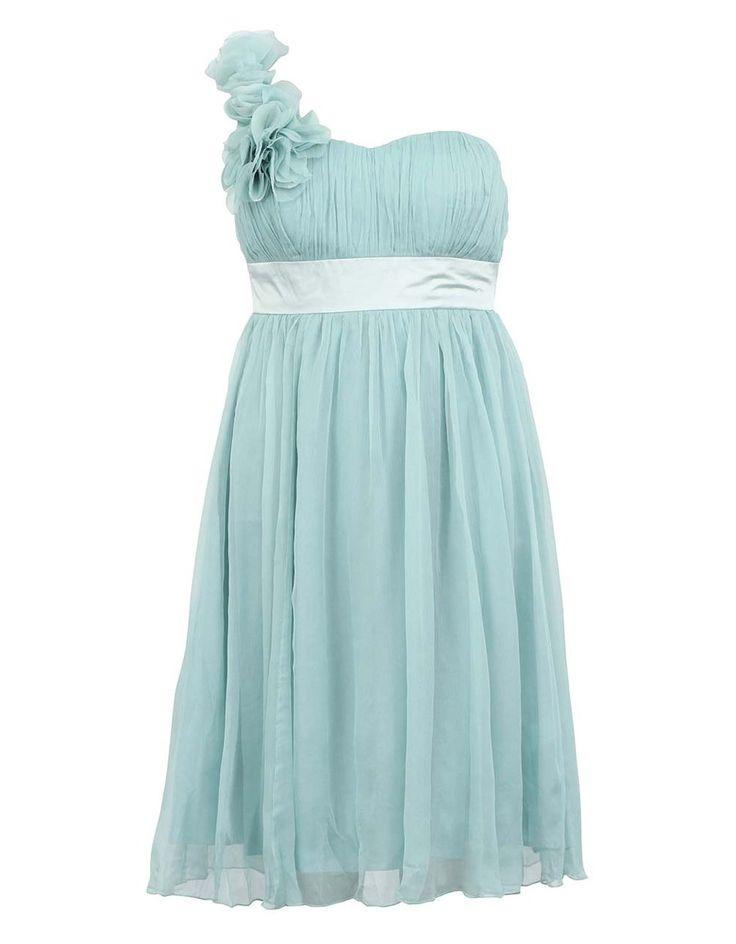 Blankytně modré šaty z hedvábí Fever London Ivy