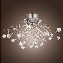 110 V 220 V De Aluminio Moderna Lámparas de Techo de Luz Con Montaje Empotrado Doblado en Caliente De Cristal G4 Luces de la Bola, Lustres de Teto(China (Mainland))
