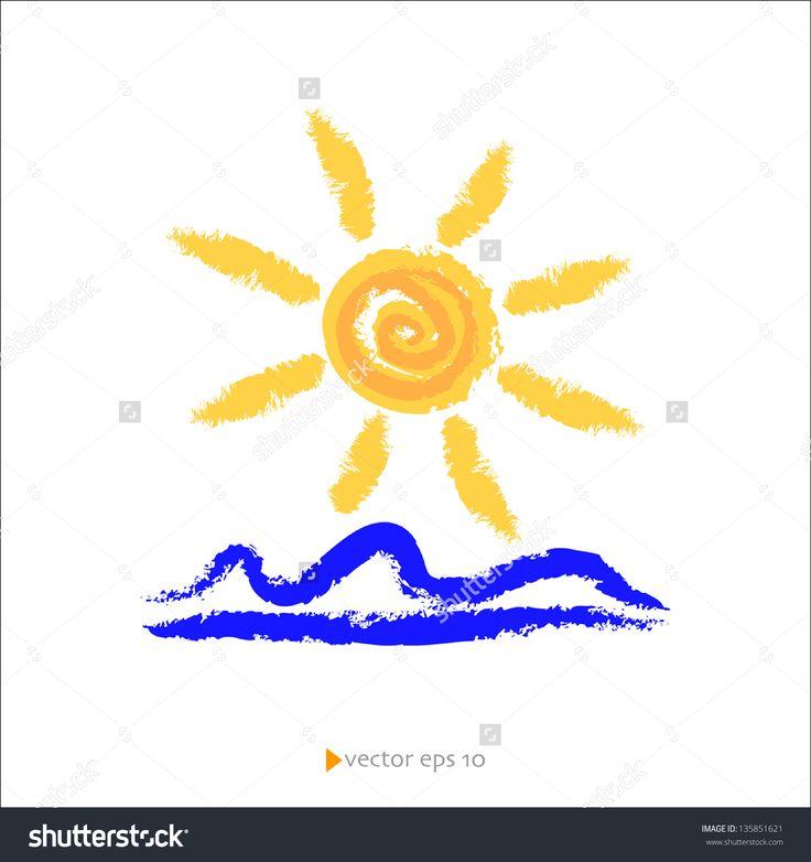 #sold #illustration #vector #sun #wave #summer #vacation #tourism