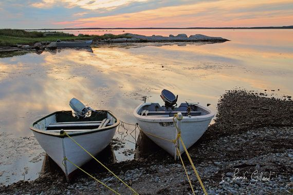 Boats at the cottage calm water fine art beach by DreamsandNotions