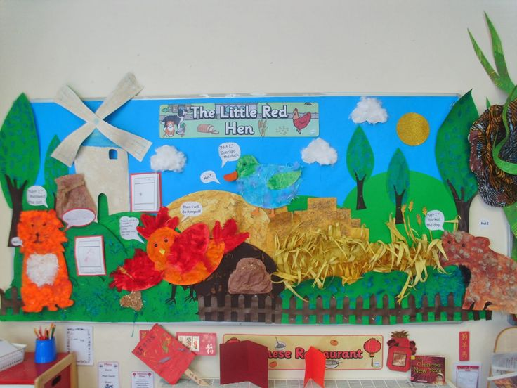 The children used a range of media to create 'The Little Red Hen' collage display.  The children retold the story verbally before creating...