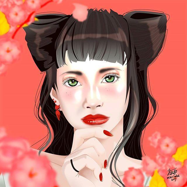 【marimbaspace】さんのInstagramをピンしています。 《猫耳 と さくら . . . . . . #桜 #猫耳 #猫耳ヘア #illustration #illustrations #illustrationart #drawing #sketch #draw #digitalt #painting #cherryblossoms #catearshairstyle》