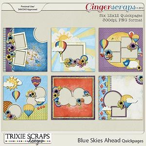 Blue Skies Ahead Quickpages by Trixie Scraps Designs