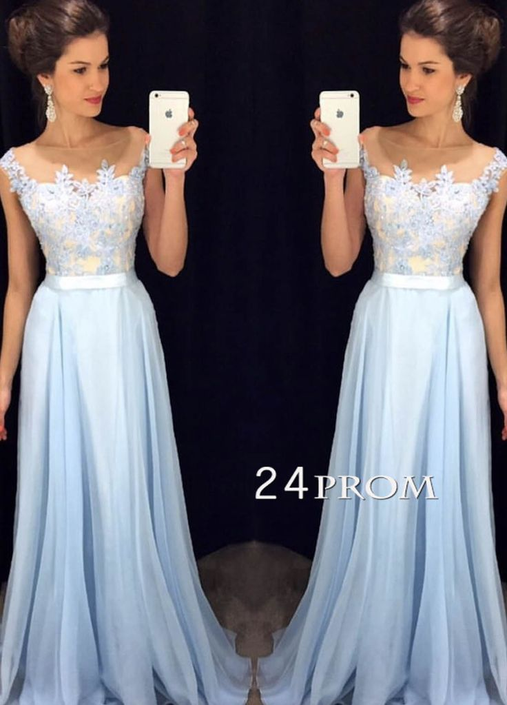 light blue lace long prom dress 2016, unique long prom dress for teens, formal party dress #prom #promdress #evening