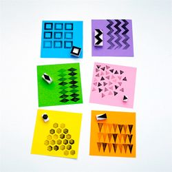 Tutorial explaining how to make really easy geometric stamps from erasers.
