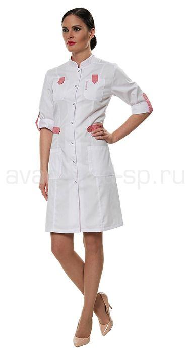 """Халат женский LL1108 Lantana / Халаты / Женская одежда """"Lantana"""" / Медицинская одежда"""