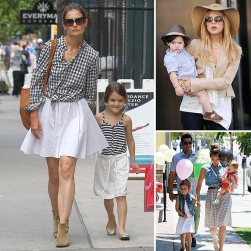 coolest celeb mom & kiddie fashion duos