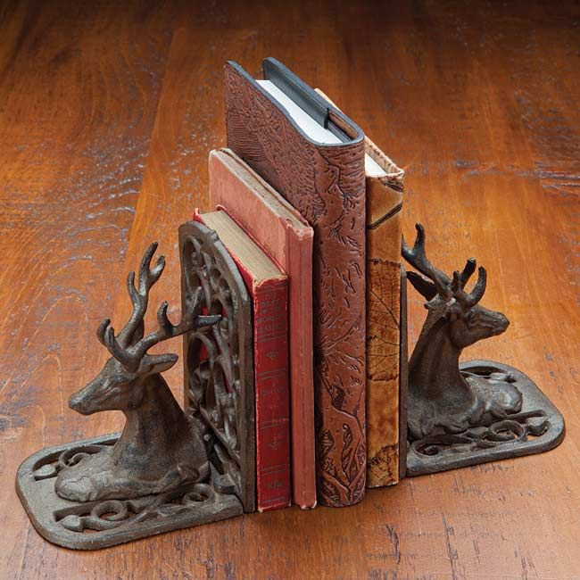 48 best bookends images on pinterest bookends book shelves and antique wood - Stag book ends ...