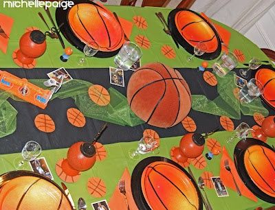 March Madness Table Decoration   Visit Michellepaige Blogspot Com.  Basketball ...