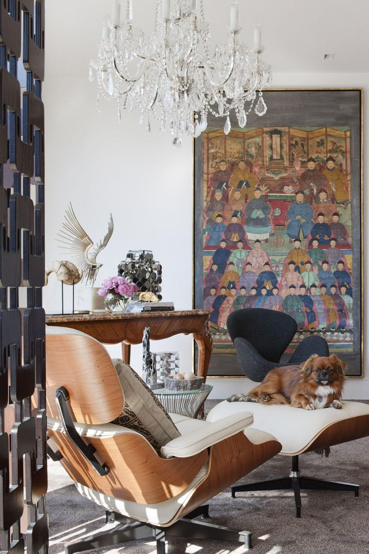 Bedroom in David Hicks' Melbourne penthouse