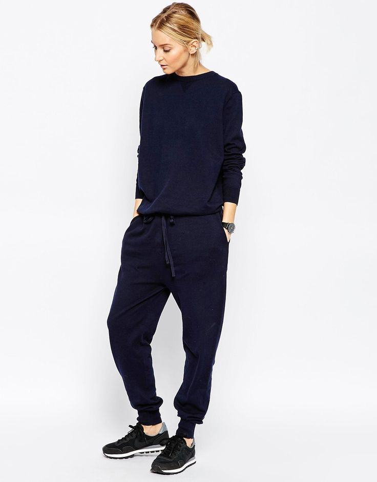 Image 1 ofASOS WHITE Knitted Jumpsuit