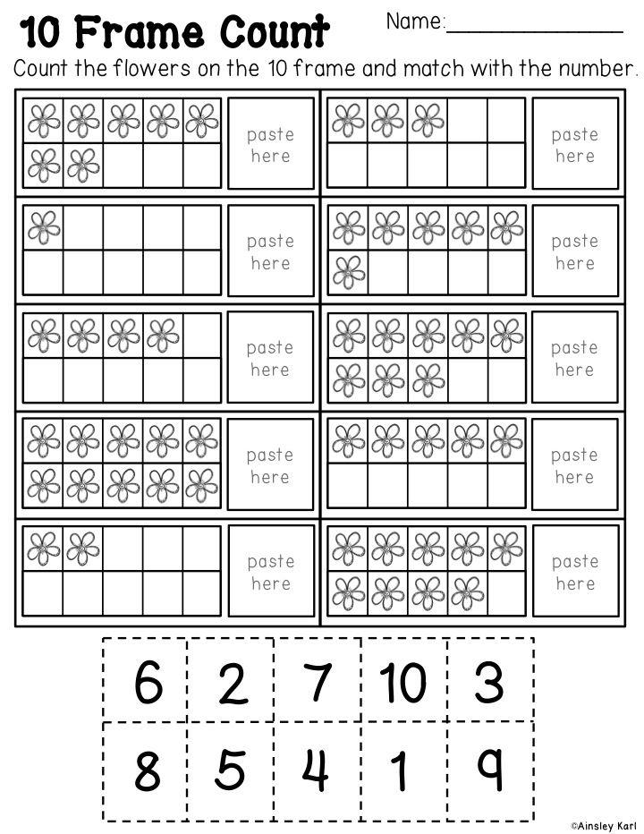 Spring Math Worksheets for Kinder/Frist