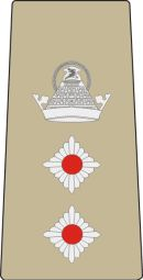 Colonel rank insignia (Mounting loop), contemporary Lesotho Defence Force.