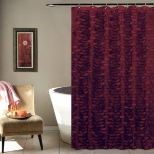 Burgundy Shower Curtain Liner
