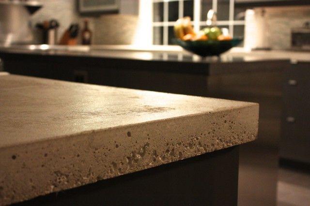 Concrete Countertop Edge Designs : concrete bench concrete kitchen concrete countertops stainless sink ...