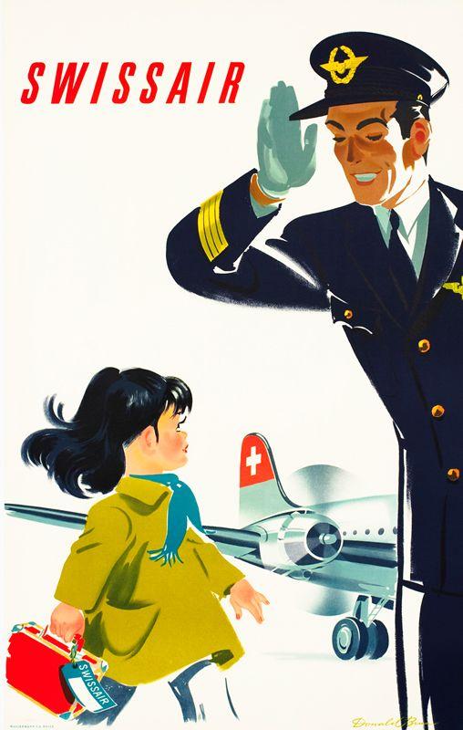 Brun, Donald poster: Swissair
