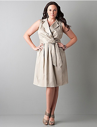 Sateen Dress- Layne Bryant