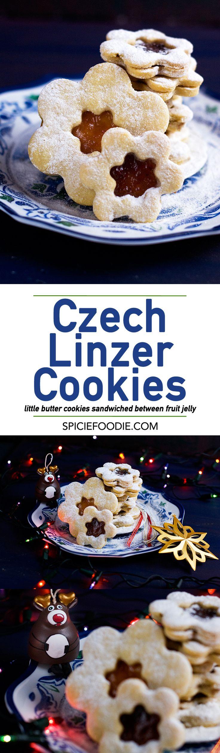 Czech Linzer Cookies Recipe | #lineckekolacky #linzercookies #buttercookies…