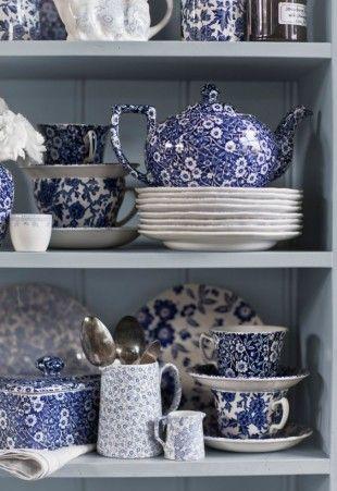 Blauw-wit servies