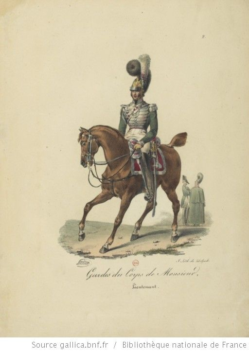 [Maison du Roi et garde royale de Louis XVIII, 1817.] / Ch. Aubry - 7
