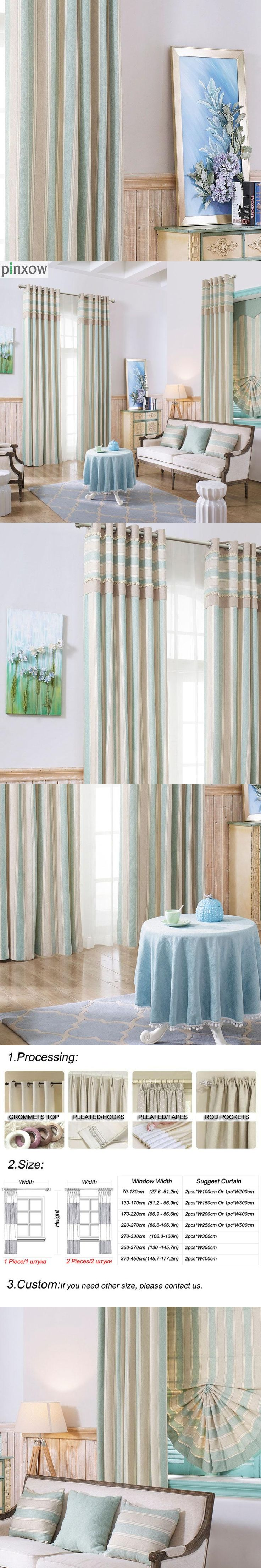 modern stripe curtains for living room luxury thick drapes for bedroom dinning room custom made home stripe