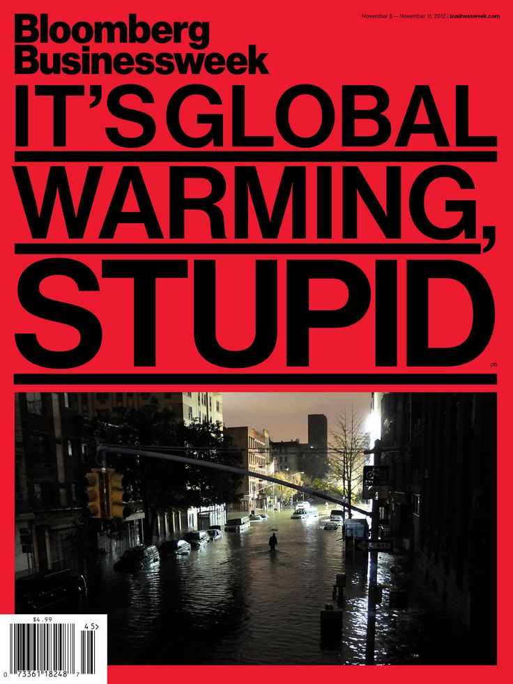 Bloomberg Businessweek cover – It's Global Warming, Stupid.