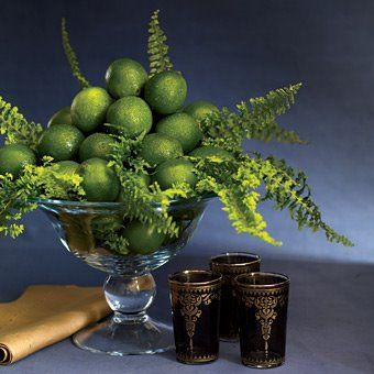 Lime Centerpiece Love A Monochromatic Theme