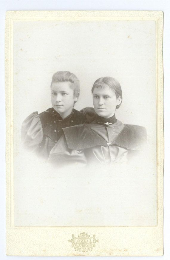 Sisters Cabinet Card Photograph Vintage by FamilyTreeAntiques, $4.00