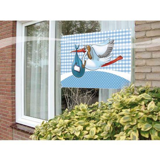 Raamvlag geboorte jongen  Stoffen raamvlag geboorte jongen met opdruk van de ooijevaar. Formaat: 60 x 90 cm.  EUR 5.50  Meer informatie