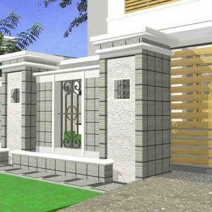 60+ contoh model desain pagar rumah minimalis modern