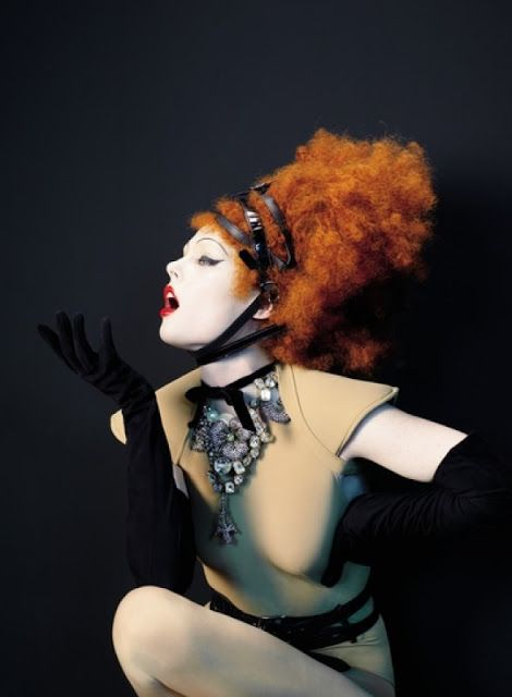 Coco Rocha by Sophie Delaporte Styled by Jean-Paul Gaultier for Les Echos