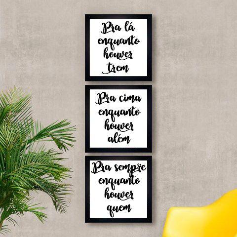 Kit composto por 3quadros decorativos com moldura preta. Nossos quadros: Ospôsteresde nossos quadros são impressos em papel de alta gramatura e resolução....