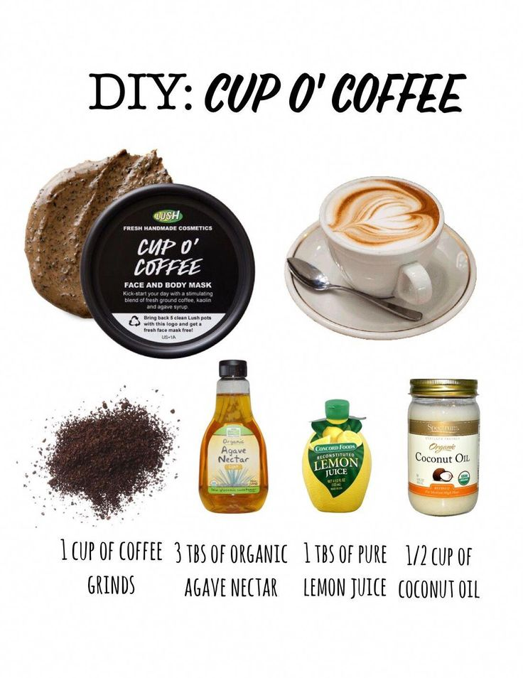 DIY Lush Cup o' Coffee mask! Super simple to m…