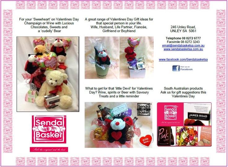 SendaBasket®SA  246 Unley Road, UNLEY SA  5061  Telephone 08 8272 6777  Facsimile 08 8272 3243  email@sendabasketsa.com.au  www.sendabasketsa.com.au  www.facebook.com/Sendabasketsa