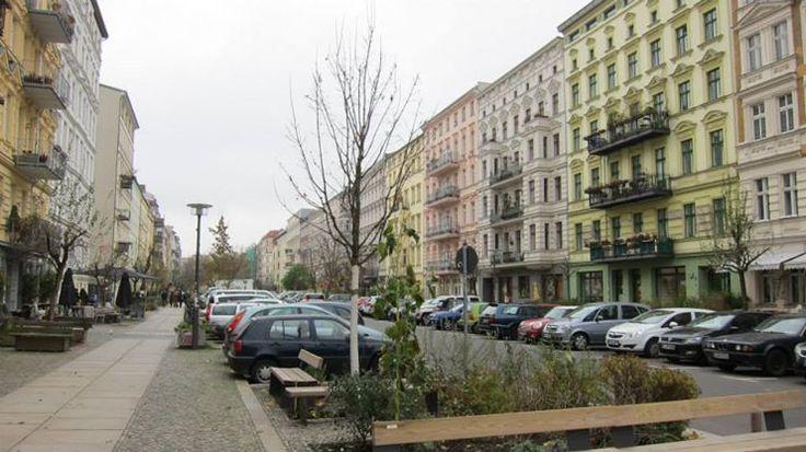 Prenzlauer Berg street facade. Berlin