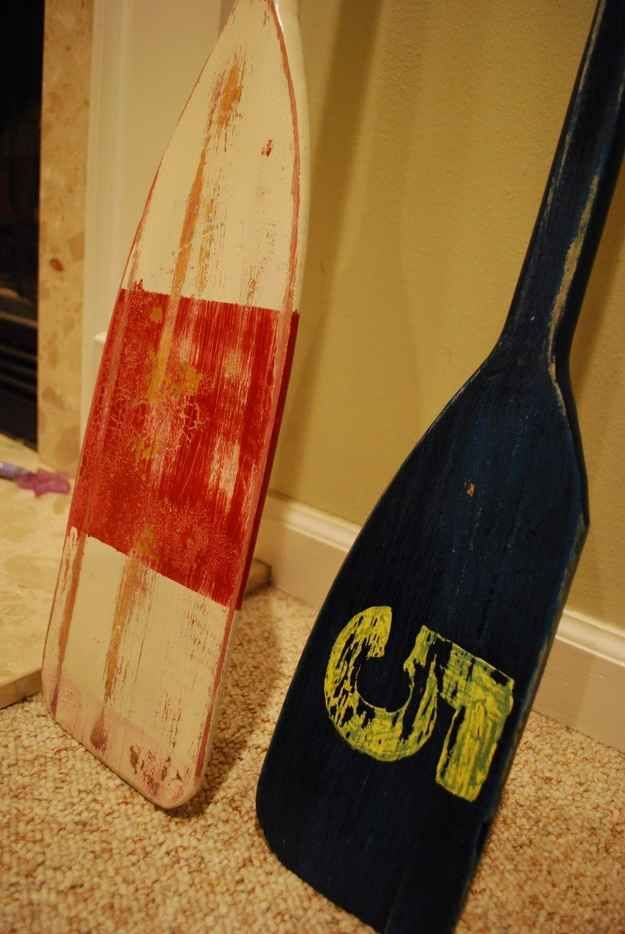 Create these nautical, distressed oars. | 21 Pottery Barn Inspired DIYs