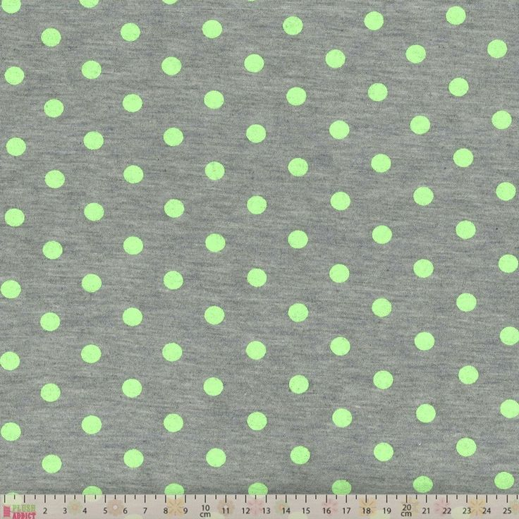 Viscose Spandex Jersey - Bright Green Dots On Grey