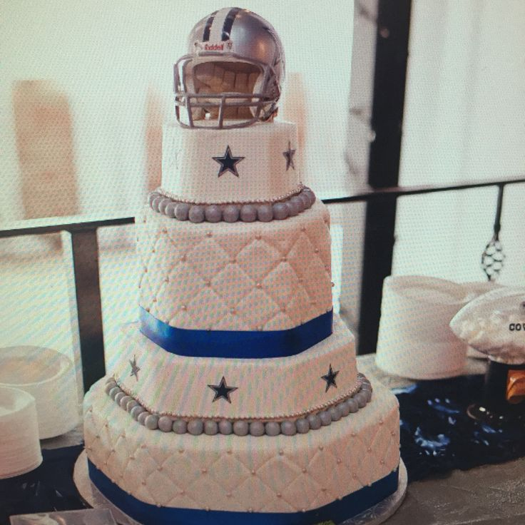 Dallas Cowboys Wedding Cake