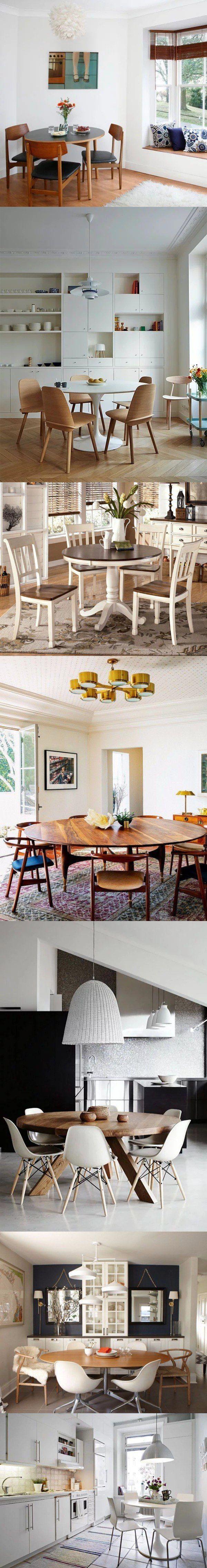 Gana espacio con mesas redondas / decoracion2.com