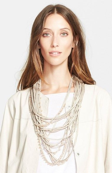 Fabiana+Filippi+Glass+Pearl+Strand+Necklace+available+at+#Nordstrom