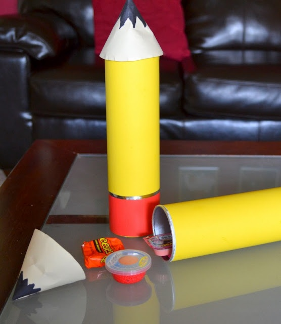 Pringle Can Pencil Favor Tutorial:  Cute for a Back To School gift!