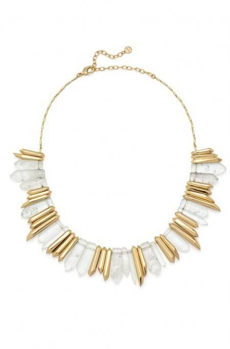 The Rebel Necklace is a delicate gold necklace that puts any other chain necklace to shame. Find a quartz necklace & statement jewelry here at Stella & Dot.